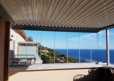 Fermeture partielle de terrasse hôtel 4 étoiles dans le Var au Rayol Canadel