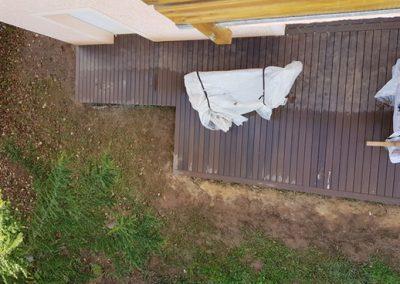 Terrasse en bois composite garantie 20 ans dans les Alpes