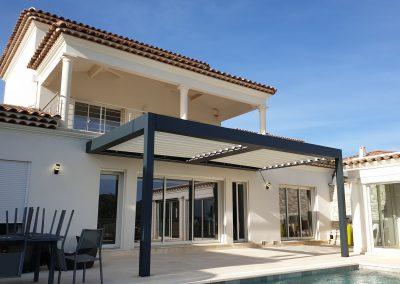 Pergola bioclimatique double module pour une villa à Plan de Cuques entre Marseille et Allauch