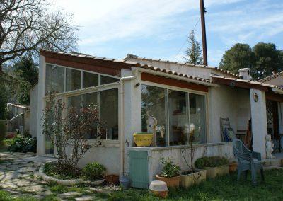 Fermeture de terrasse en menuiseries aluminium à Aubagne 13400
